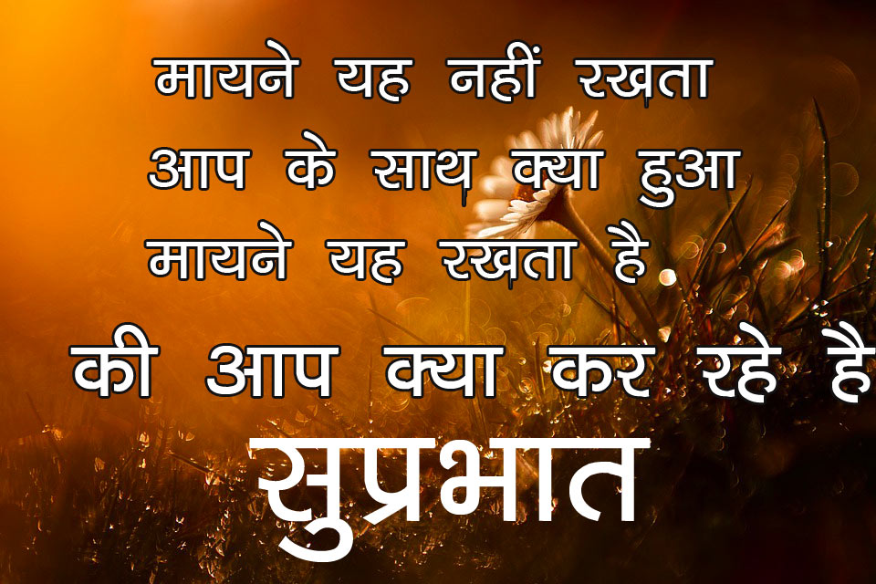 Good Morning image sms for Friends in hindi 13